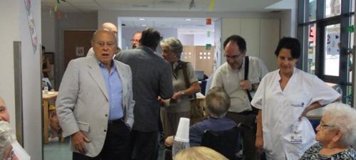 Jordi Pujol a l'Hospital de Campdevànol